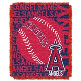 "Los Angeles Angels MLB ""Double Play"" Woven Jacquard Throw"