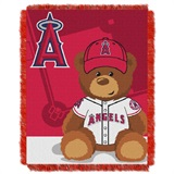 "Los Angeles Angels MLB ""Field Bear"" Baby Woven Jacquard Throw"