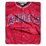 "Los Angeles Angels MLB ""Jersey"" Raschel Throw"