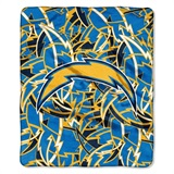 "Los Angeles Chargers NFL ""Quicksnap"" Raschel Throw"