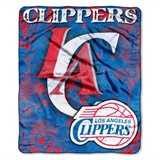 "Los Angeles Clippers NBA ""Dropdown"" Raschel Throw"