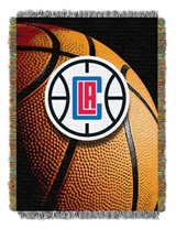 "Los Angeles Clippers NBA ""Photo Real"" Woven Tapestry Throw"