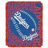 "Los Angeles Dodgers MLB ""Double Play"" Woven Jacquard Throw"