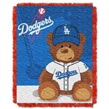 "Los Angeles Dodgers MLB ""Field Bear"" Baby Woven Jacquard Throw"