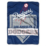"Los Angeles Dodgers MLB ""Home Plate"" Raschel Throw"