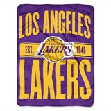 "Los Angeles Lakers NBA ""Clear Out"" Micro Raschel Throw"