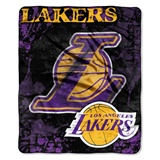 "Los Angeles Lakers NBA ""Dropdown"" Raschel Throw"