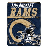 "Los Angeles Rams ""40-Yard Dash"" Micro Raschel Throw"