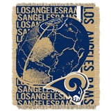 "Los Angeles Rams ""Double Play"" Woven Jacquard Throw"