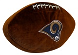 Los Angeles Rams Football Shaped 3D Pillow