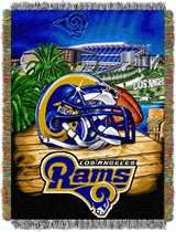 "Los Angeles Rams ""Home Field Advantage"" Woven Tapestry Throw"
