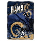 "Los Angeles Rams NFL ""Stagger"" Micro Raschel Throw"