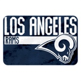 "Los Angeles Rams NFL ""Worn Out"" Bath Mat"