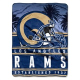 "Los Angeles Rams ""Stacked"" Silk Touch Raschel Throw"