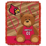 "Louisville  Cardinals NCAA ""Fullback"" Baby Woven Jacquard Throw"