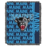 "Maine Black Bears NCAA ""Double Play"" Woven Jacquard Throw"