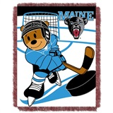 "Maine Black Bears NCAA ""Fullback"" Baby Woven Jacquard Throw"