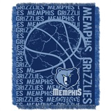 "Memphis Grizzlies NBA ""Double Play"" Woven Jacquard Throw"