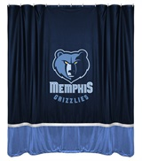 Memphis Grizzlies Sidelines Shower Curtain