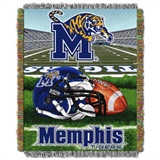 "Memphis Tigers NCAA ""Home Field Advantage"" Woven Tapestry Throw"
