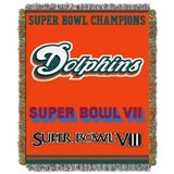 "Miami Dolphins ""Commemorative"" Woven Tapestry Throw"