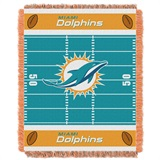 "Miami Dolphins ""Field"" Baby Woven Jacquard Throw"