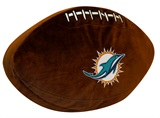Miami Dolphins Football Shaped 3D Pillow