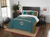 "Miami Dolphins NFL ""Draft"" Full/Queen Comforter Set"