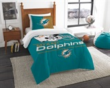 "Miami Dolphins NFL ""Draft"" Twin Comforter Set"