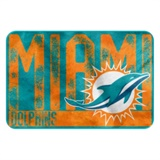 "Miami Dolphins NFL ""Worn Out"" Bath Mat"