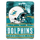"Miami Dolphins ""Stacked"" Silk Touch Raschel Throw"