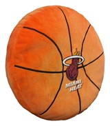 Miami Heat NBA Basketball Shaped 3D Pillow