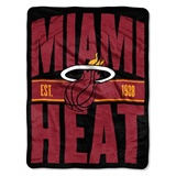 "Miami Heat  NBA ""Clear Out"" Micro Raschel Throw"