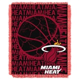 "Miami Heat NBA ""Double Play"" Woven Jacquard Throw"