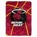 "Miami Heat NBA ""Shadow Play"" Raschel Throw"