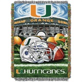 "Miami ""Home Field Advantage"" Woven Tapestry Throw"