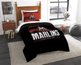 "Miami Marlins MLB ""Grand Slam"" Twin Comforter Set"