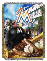 "Miami Marlins MLB ""Home Field Advantage"" Woven Tapestry Throw"