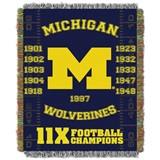 "Michigan ""Commemorative"" Woven Tapestry Throw"