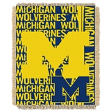 "Michigan ""Double Play"" Woven Jacquard Throw"
