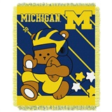 "Michigan ""Fullback"" Baby Woven Jacquard Throw"