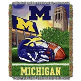 "Michigan ""Home Field Advantage"" Woven Tapestry Throw"