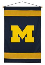 Michigan U Wolverines Sidelines Wallhanging