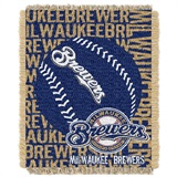 "Milwaukee Brewers MLB ""Double Play"" Woven Jacquard Throw"
