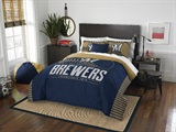 "Milwaukee Brewers MLB ""Grand Slam"" FullQueen Comforter Set"