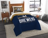 "Milwaukee Brewers MLB ""Grand Slam"" Twin Comforter Set"