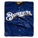 "Milwaukee Brewers MLB ""Jersey"" Raschel Throw"