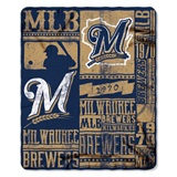 "Milwaukee Brewers MLB ""Strength"" Fleece Throw"