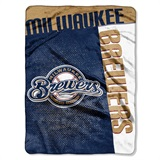 "Milwaukee Brewers MLB ""Strike"" Raschel Throw"
