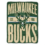"Milwaukee Bucks NBA ""Clear Out"" Micro Raschel Throw"